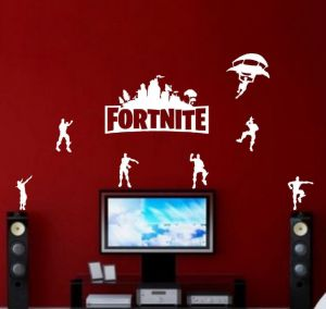Diy White Fortnite Wall Stickers Self Adhesive Bedroom Living Room