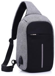 89248e78f8 Waterproof Youth USB Charging Zipper Business Anti-Theft Travel Crossbody  Bag Stealth Zipper Business Chest Pack Repellent Anti-theft Package for  Women ...