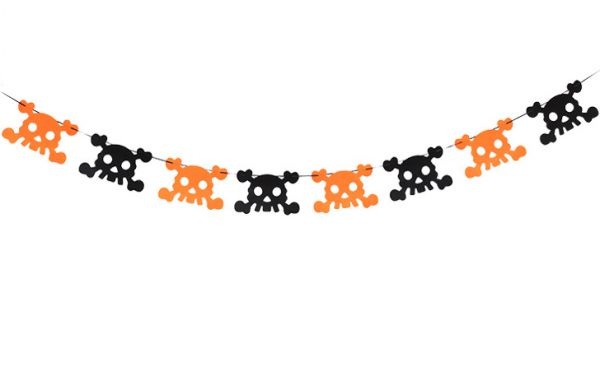 1pc Creative Halloween Flags Witch Skull Banner Non Woven Pull