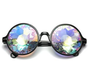 8bc818fcd5 Kaleidoscope Mosaic Party Cool Night Decorate Fashion Sunglasses For Men  and Women - Black