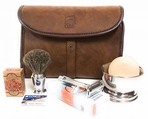 27ca41e0c6ca Merkur Deluxe Travel Dopp Kit 23001 Double Edge Safety Razor