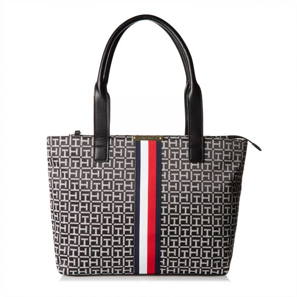 Tommy Hilfiger Tote Bag For Women Canvas Black