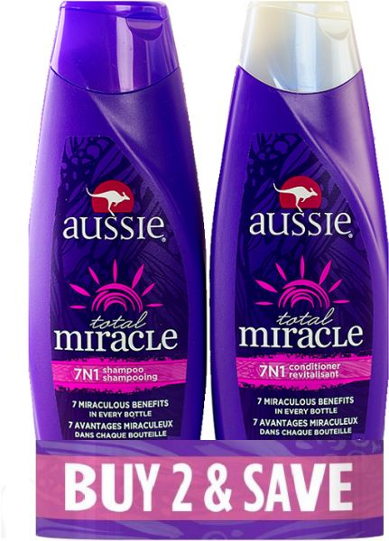 Buy Aussie Shampoo & Conditioner for All Hairs - 400 ml in UAE