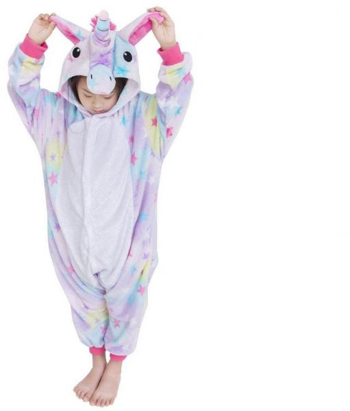 bd92e5b9542e Size M Childrens Blue Unicorn Costumes Animal Onesies Kids Homewear Pajamas