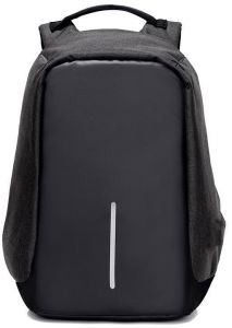 Neutral Travel Shoulder Backpack   Laptop Bag USB Charger School Outdoor  Bags With Large Capacity -Black 815d71a260174