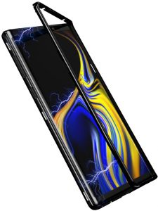 more photos 770ce 2b77c samsung galaxy note 9 Case 360 degree full cover 2 pieces metal frame  magnetic tempered glass back case - Black