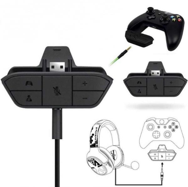 Stereo Headset Audio Mic Adapter For Xbox One Stereo Headset Controller  Adapter