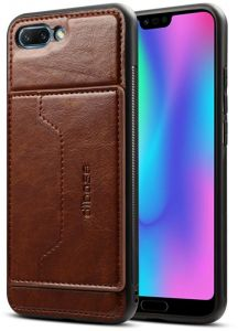 7e84ebeb898 Huawei Honor 10 Dibase Leather coated case cover with Card Slot - Dark  Brown.