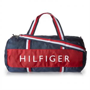 Tommy Hilfiger Outdoor Duffle Bag For Women Navy Blue Red