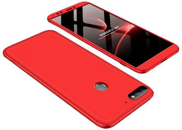online store 7108a 3bdaa Infinix Note 5 - X604 case 360 Degree 2 pieces Silicon products front And  back With Out Screen - Red