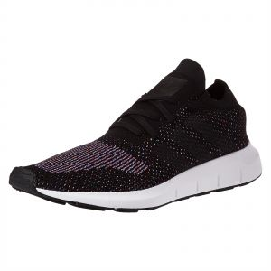 f57afcb1e0b4d0 adidas Originals Swift Prime Knit Running Shoes for Men - Core Black    Medium Grey