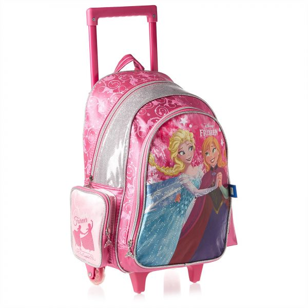 47dce4ab4db36 Disney Frozen School Trolley Bag for Girls - Pink