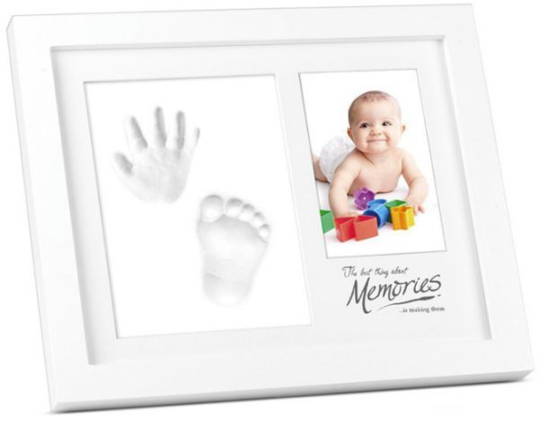 Baby Handprint Kit & Footprint Kit Clay Picture Frame for Newborn ...