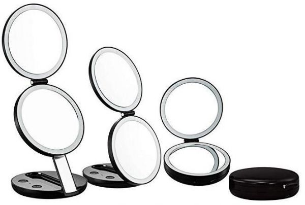 Lighted Travel Makeup Mirror 1x And 7x