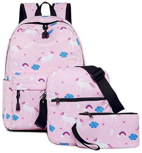 Teen Girls Backpack Unicorn Casual Laptop Daypack School Student Book Bag  School Bags Set Bookbags Shoulder bag Pouch 3 in 1 Pink  48bdabd102883