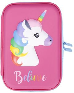 1PCS Cute Unicorn Pencil Case School Supplies Stationery Pencil Case Cartoon Design Hard Shell Cake Pencil Bag with Pencil Holder Stationery School Supplies ...