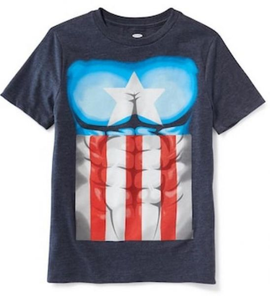 Old Navy Marvel Comics Captain America Costume Tee For Boys Souq