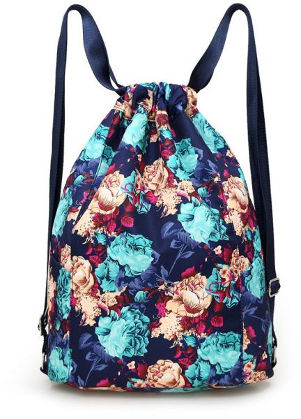Drawstring Bags for Women ladies Casual Floral Printed Vintage Backpack  Girls Schoolbag Large Capacity Nylon Daypack Book Bags Travel  eca0fbe0c535e