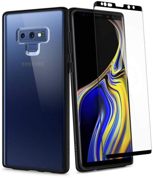 huge selection of 46d1c 5e7c5 Galaxy Note 9 Case , Spigen Ultra Hybrid 360 with Tempered Glass screen  Protector Matte Black