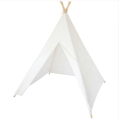 Portable Kids play Indian Teepee Tent Cotton Canvas Outdoor indoor tent house kids Games Playhouse -White  sc 1 st  Souq.com & Portable Kids play Indian Teepee Tent Cotton Canvas Outdoor indoor ...