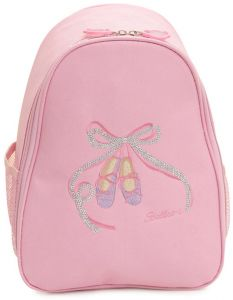 644a767659b Adjustable Shoulder Strap Girls School Backpack Embroidery Bow Sequin  Canvas Dance Bags Pink Ballet Shoes Clothes Children Dance Bag