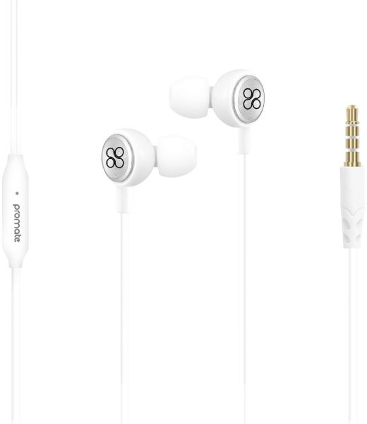 Promate Earphones Lightweight In Ear Hd Stereo Noise Cancelling