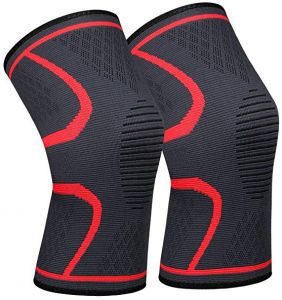 c4ae0190abec4 ... Support - 1 Pair Unisex Design Knee Sleeve include Two Wristbands For  Running