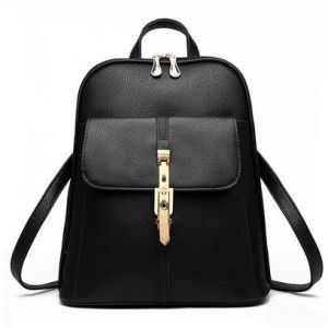 Women s Simple Style PU Leather Backpack School Bags Backpacks For Teen  Girls Fashion Solid Vintage Bag 3787d0160d