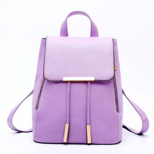 61e0fa8f01 Fashion Women backpack school bags for teenagers shoulder bag vintage back  pack backpacks PU tote-Purple