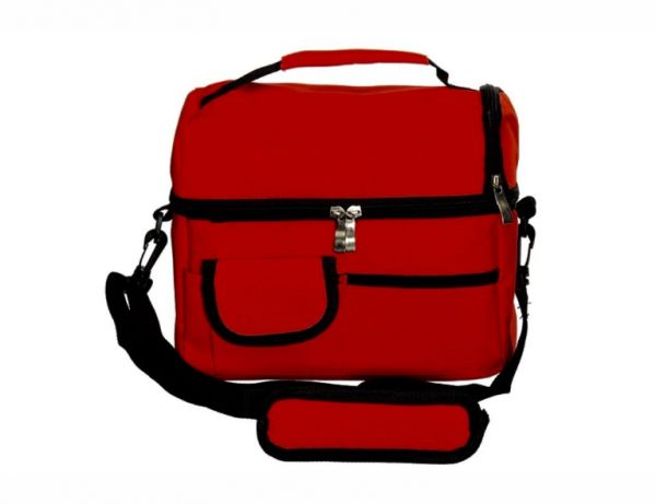 Double Compartment Insulated Lunch Bag 8L Leakproof Lunch Bag for Adults Lunch Bag Picnic Cooler Bag Meal Prep Bag Box Lunch Tote for Camping Travel – Red | السعودية | سوق