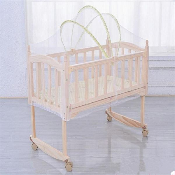 See Throu... Premium Baby Bed Canopy Netting Cover Baby Cot Safety Pop Up Tent