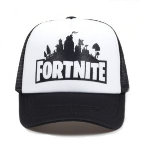 White New Fashion fortnite Printed Baseball Cap Cotton Mesh Hat Sun Cap  Adjustable Snapback Hat For Unisex 58ca047bd4a7