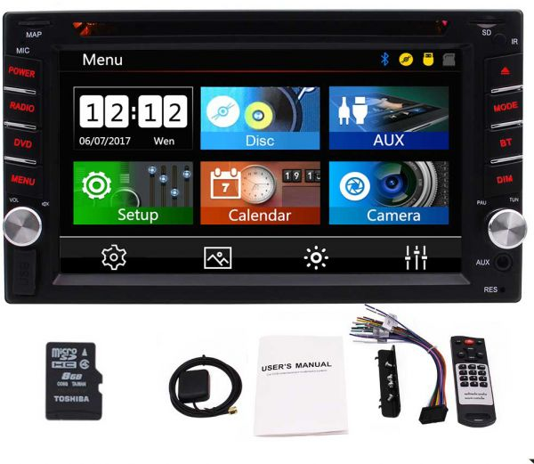 Double Din Car Stereo 2 Din Car Radio GPS Navigation with 3 New UIS support  Bluetooth DVD Player AM FM RDS Radio USB TF AUX SWC with 6.2 Inch  Capacitive ... c0e7e6fc7