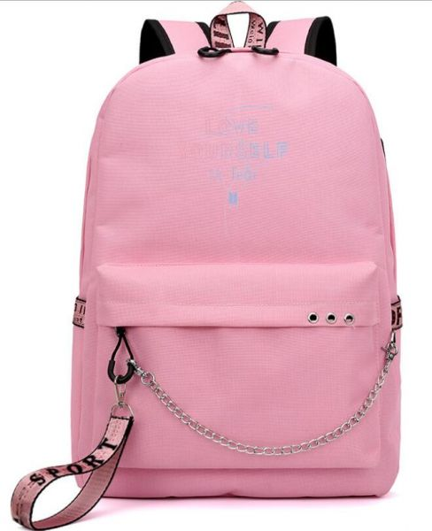 7fce4ffb72 Korea BTS LOVE YOURSELF series backpack school student children ...