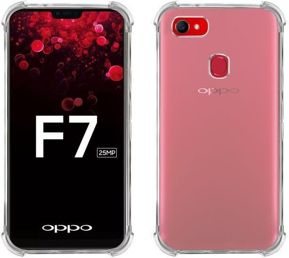 super popular fd502 330db Oppo F7 Crystal clear - Anti Brust shockproof Case cover