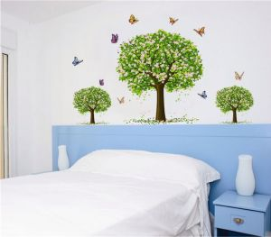 Cartoon Sakura Tree Wall Stickers For Kids Room Home Decor Colorful Tree Decal Stick On Wall 8qz0623 Buy Online Wallpaper Decals At Best Prices In Egypt Souq Com