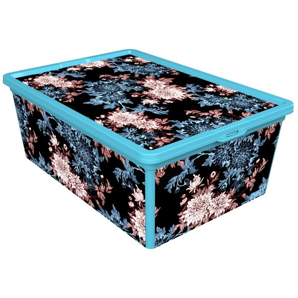 Qutu Trendbox Backyard Storage Box Blue H 26 Cm X W 14 D 37 Souq Uae