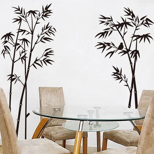 Ink Painting Bamboo Wall Stickers Living Room Bedroom Tv Wallpaper