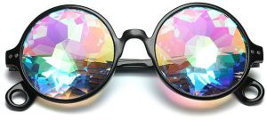 86a78aff430 Kaleidoscope Glasses Round Rave Festival Diffraction Sunglasses For Men And  women Sunglasses