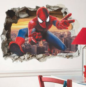 Ps4 Marvels Spider Man Wallpaper Ps4 Game Marvels Spiderman Wallpaper Living Room Bedroom Wall Stickers 3d Marvel Spiderman Sticker Children Room