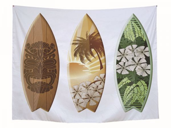 Summer Beach Sports Surf Wood Board Print Home Decorative Wall
