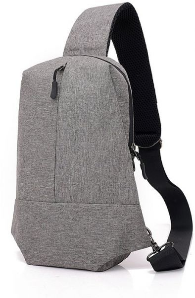 Women Men One Strap Shouder Canvas Backpack Chest Pack Sling Crossbody Bag  Sports Hiking Cycling Casual Bags  3d3a357dac
