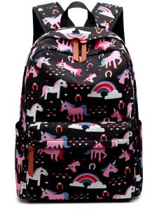 47cc417056 Campus College Wind Cartoon Cute Unicorn Printed Canvas School Backpack  Casual Travel Bag Daily Fashion Backpacks For Women