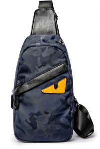 e965b94b15bd Camo Blue Waterproof Nylon Crossboy Sling One Shoulder Backpack Chest Pack  Travel Hicking Cycling Outdoor Sports