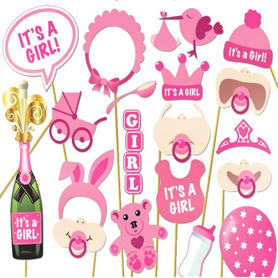 New Funny Photo Booth Props Baby Shower Birthday Game 20pcsset Its
