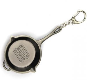 93420cc257e PUBG Frying Pan Alloy Metal Keyrings Game Battlegrounds Keychains Casual Key  Chain Rings for Unisex