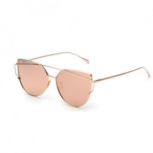 dee070cb9b1 Women s Unique Design Sunglasses Metal Frame All Match Fashion Retro Glasses  Accessories Pink