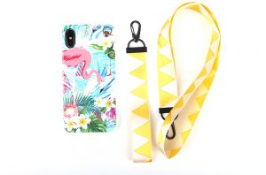 ed95e3d7726d0 iPhone XS iphone X TPU soft case with lanyard painting Flamingo all  inclusive phone shell anti fall shockproof protective sleeve