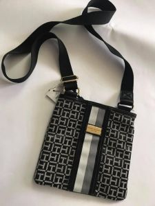 eab802c2 Tommy Hilfiger Bag For Women,Black & White - Crossbody Bags