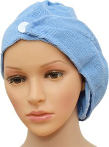 2 PCS Hair Towel, Ultra Absorbent & Fast Drying Microfiber Towel For Fine & Delicate Hair, Soft blue